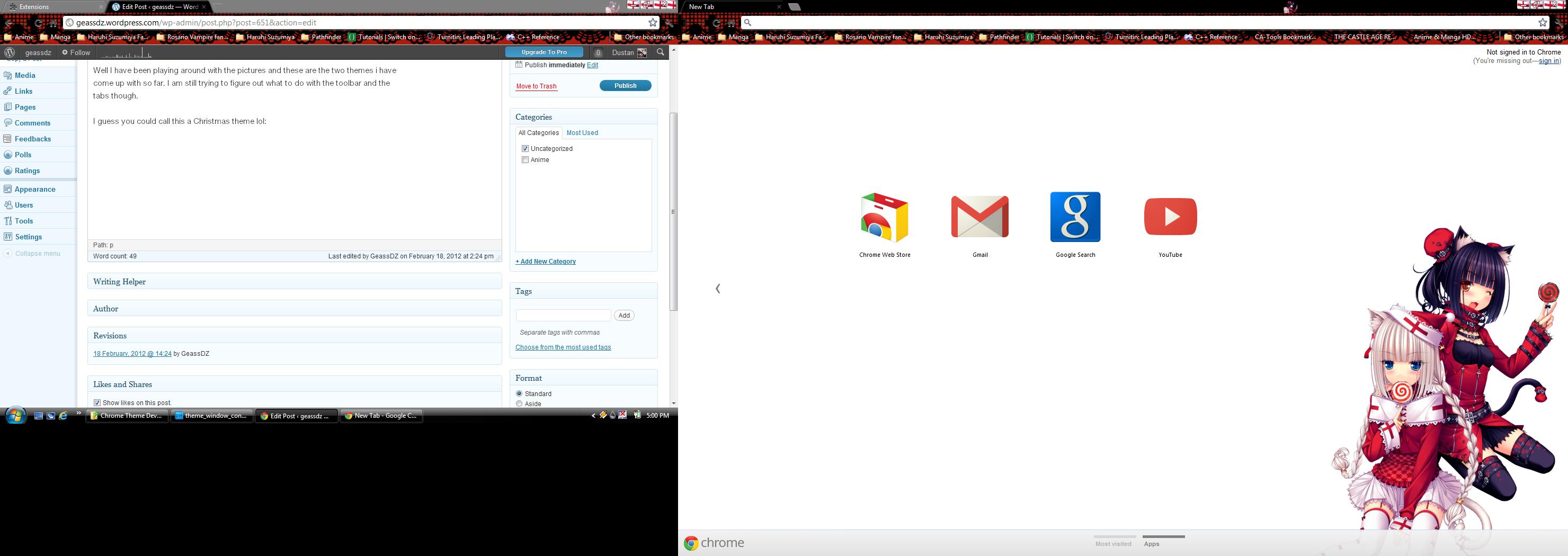 Gmail theme anime - I