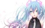 Konachan.com - 115933 aqua_eyes aqua_hair hatsune_miku nilitsu tagme tie twintails vocaloid white
