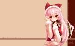Konachan.com - 122103 animal_ears catgirl hat long_hair original photoshop pink_hair red_eyes scarf shia_(syroh) syroh tail