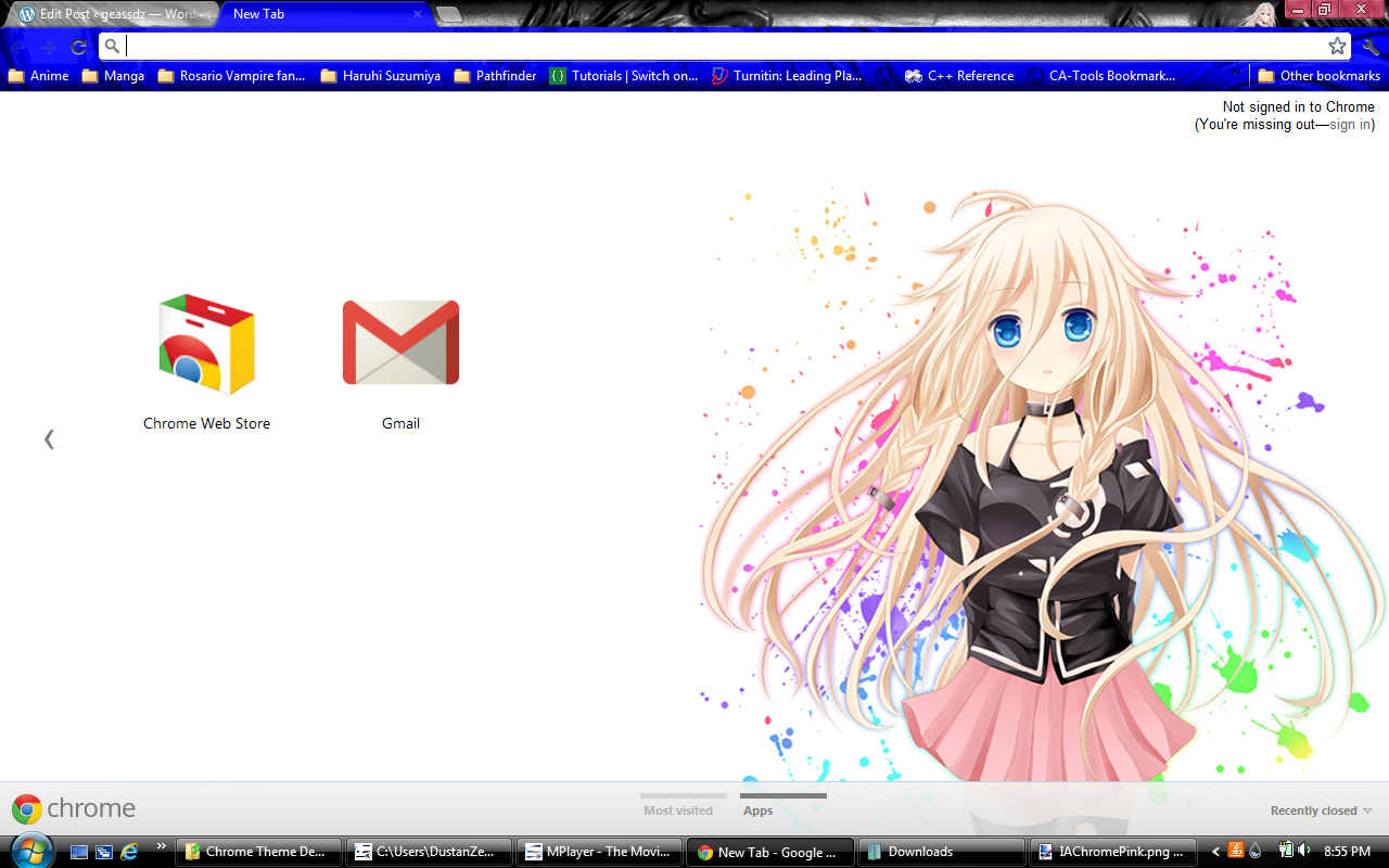 Gmail themes anime - Posted In Anime